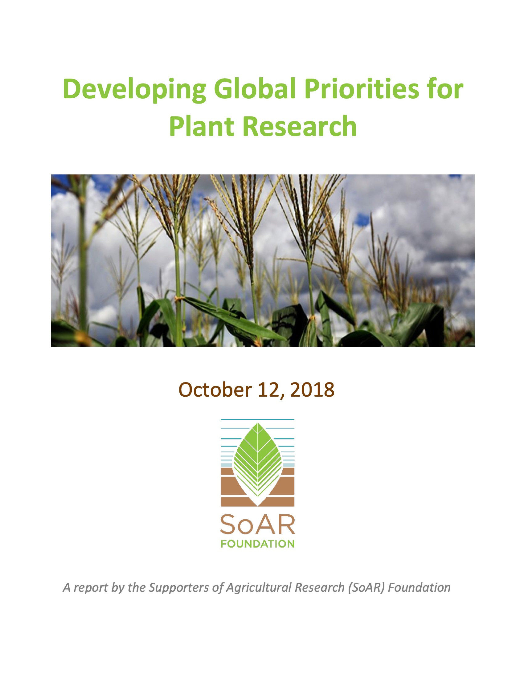 Report: Developing Global Priorities for Plant Research